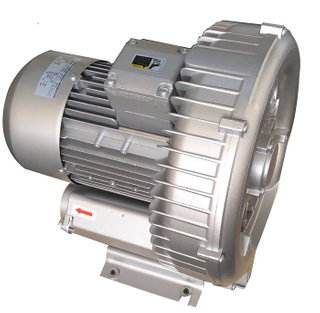 Max airflow side channel blower for powder transportation